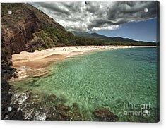 Makena Beach Maui Acrylic Print by Paul Karanik