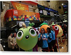 Makers Of Popular Candy Crush Game Make Public Debut On New York Stock Acrylic Print by Andrew Burton