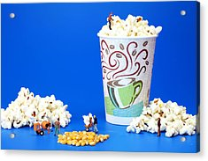 Making Popcorn Acrylic Print by Paul Ge