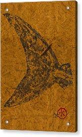 Mako Tail On Thai Banana Paper Acrylic Print