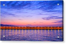 Acrylic Print featuring the photograph Malaga Pink And Blue Sunrise  by Debra Martz