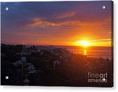Malaga Sunrise Acrylic Print by Rod Jones
