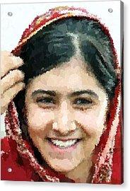 Malala Yousafzai Portrait Acrylic Print