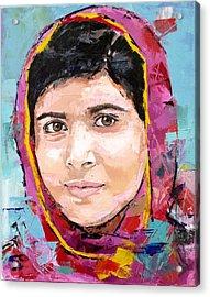 Malala Yousafzai Acrylic Print by Richard Day