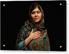 Malala Yousafzai Wins Nobel Peace Prize Acrylic Print by Christopher Furlong