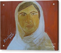 Honoring Malala Yousafzi Shot By Taliban For Championing Equal Rights To Schooling For Girls 1 Acrylic Print