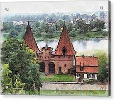 Malbork Castle Acrylic Print by Aleksander Rotner