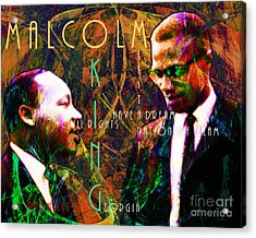 Malcolm And The King 20140205 With Text Acrylic Print by Wingsdomain Art and Photography