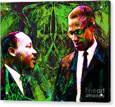 Malcolm And The King 20140205p68 Acrylic Print by Wingsdomain Art and Photography
