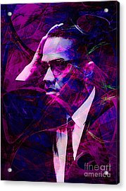 Malcolm X 20140105m88 Acrylic Print by Wingsdomain Art and Photography