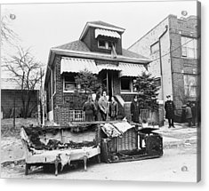 Malcolm X Home, 1965 Acrylic Print by Granger
