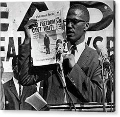 Malcolm X Speaks Acrylic Print