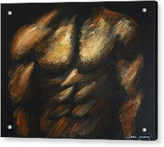Male Bodybuilder Acrylic Print by Dani Abbott