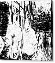 Male Bonding Acrylic Print