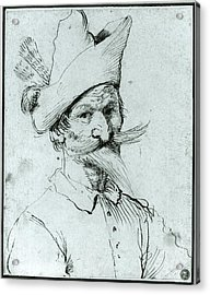 Male Caricature Acrylic Print by Follower of Guercino