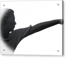 Male Educator Reaching Out Two Acrylic Print by Tina M Wenger