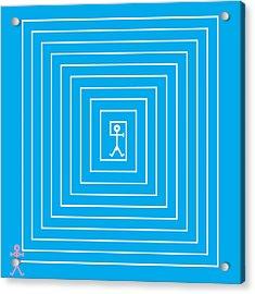 Male Maze Icon Acrylic Print