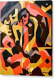 Male Nude Acrylic Print