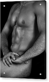 Male Nude  Acrylic Print by Mark Ashkenazi