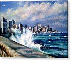 Malecon Havana Acrylic Print