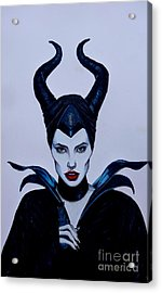 Maleficent Acrylic Print by Justin Moore