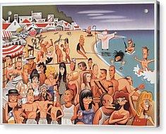 Malibu Beach Acrylic Print