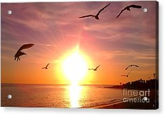 Acrylic Print featuring the photograph Malibu Paradise by Chris Tarpening