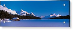 Maligne Lake & Canadian Rockies Alberta Acrylic Print by Panoramic Images