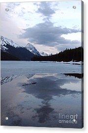 Maligne Lake - Reflections Acrylic Print by Phil Banks