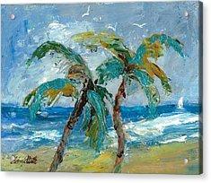 Mallibu Palms Acrylic Print
