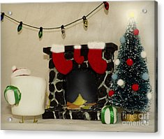 Mallow Christmas Acrylic Print by Heather Applegate