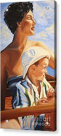 Acrylic Print featuring the painting Mama Goddess by Janet McDonald