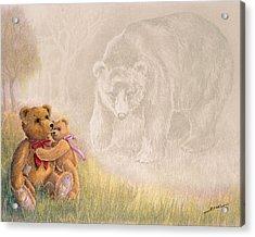 Acrylic Print featuring the drawing Mama I Saw A Big Bear by Ethel Quelland