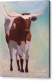 Mama Longhorn Acrylic Print by Susan Williams