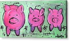 Mama Pig Acrylic Print by Sladjana Lazarevic