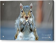 Mama Showing Off Her Manicure Acrylic Print