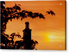 Acrylic Print featuring the photograph Mamaroneck Lighthouse Nearing Sunset by Aurelio Zucco