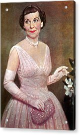 Mamie Eisenhower, First Lady Acrylic Print by Science Source