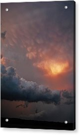 Acrylic Print featuring the photograph Mammatus At Sunset by Ed Sweeney