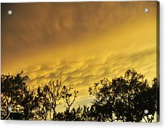 Mammatus Clouds At Sunset Acrylic Print