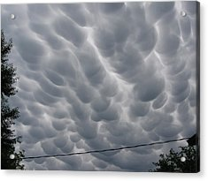 Mammatus Clouds Over Yorkton Acrylic Print by Ryan Crouse