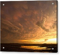Acrylic Print featuring the photograph Mammatus Clouds by Rob Graham
