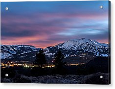 Mammoth At Night Acrylic Print by Cat Connor