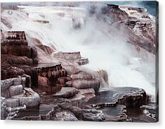 Mammoth Hot Springs In Yellowstone Acrylic Print