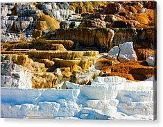 Mammoth Hot Springs Rock Formation No1 Acrylic Print