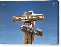 Mammoth Mountain Sign In Mono County Acrylic Print