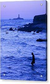 Man And Lighthouse Acrylic Print