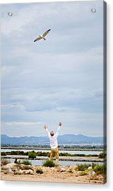 Man And Nature Acrylic Print by Tetyana Kokhanets