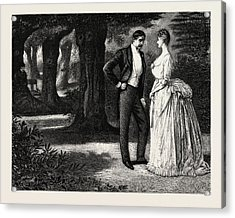 Man And Woman, 1888 Engraving Acrylic Print
