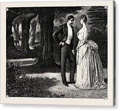 Man And Woman, 1888 Engraving Acrylic Print